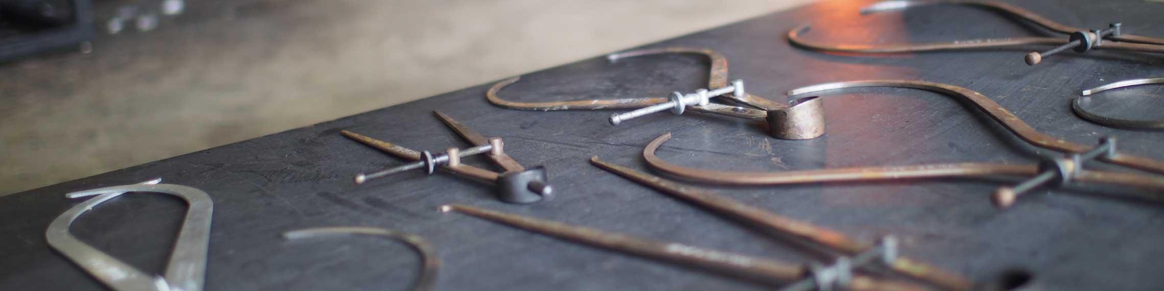 glassblowing tools for handmade modern lighting
