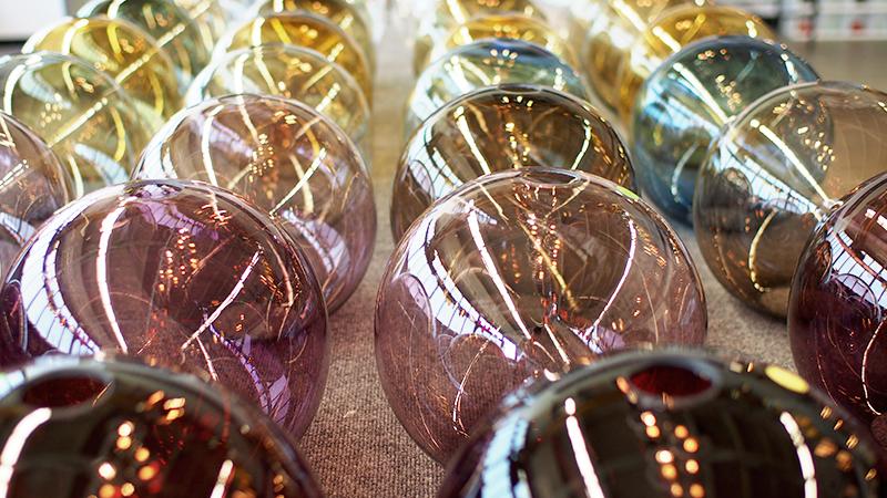 colorful modern lighting orbs