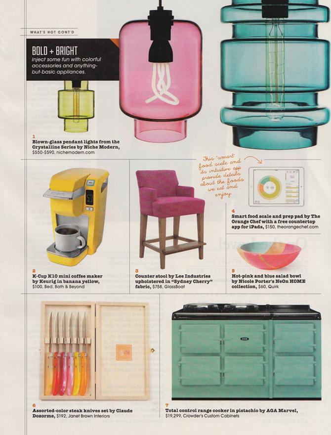 modern lighting inside R Home magazine