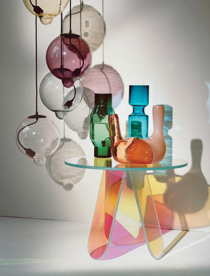 modern glass vases inside T magazine