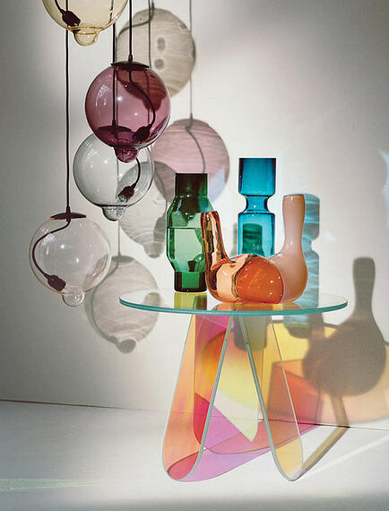 modern glass vases inside T magazine