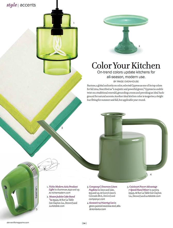 modern lighting inside Denver Life magazine