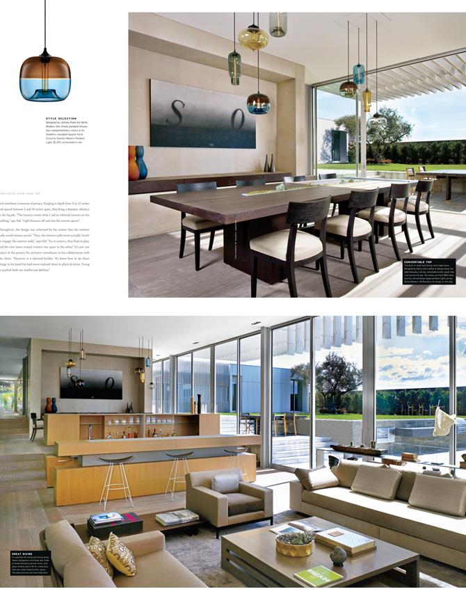 modern lighting inside inside Luxe magazine