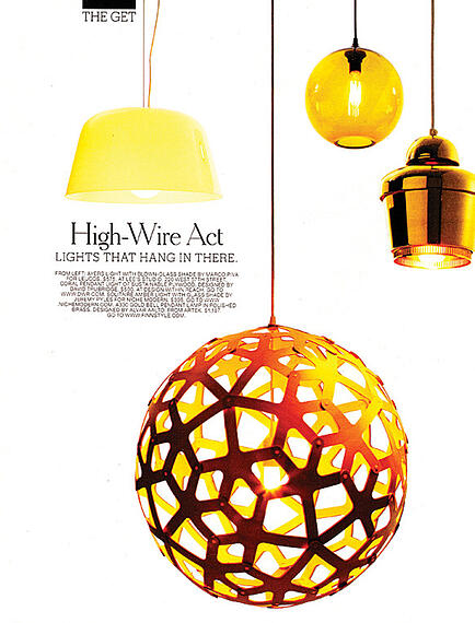 modern lighting inside T magazine