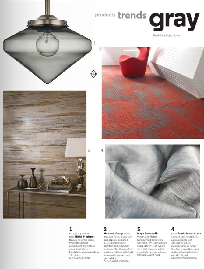 modern lighting inside Hospitality Design magazine