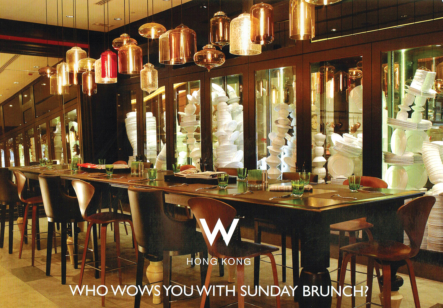& W Hong Kong - Pendant Lighting to Accentuate Luxury Dining