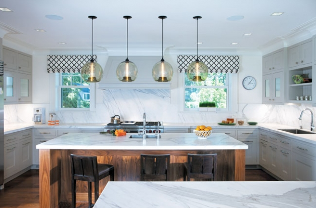 Modern lighting blog featured lighting projects this connecticut coastal home that sits above the long island sound in greenwich was recently renovated to transform an old 1930s spanish stucco into an mozeypictures Images