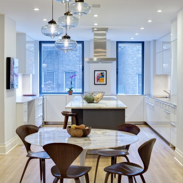 Platt Dana Architects Renovation Addition Project In: Niche Modern Circular 5 Chandelier In Upper East Side