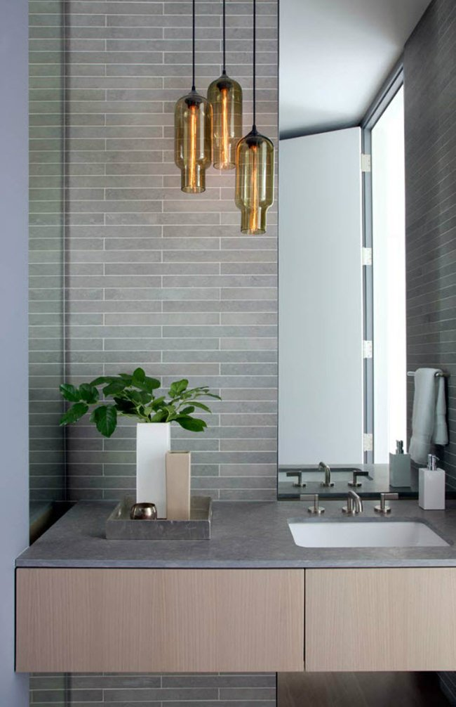 Bathroom Fixtures Nashville pharos pendants in a modern nashville home