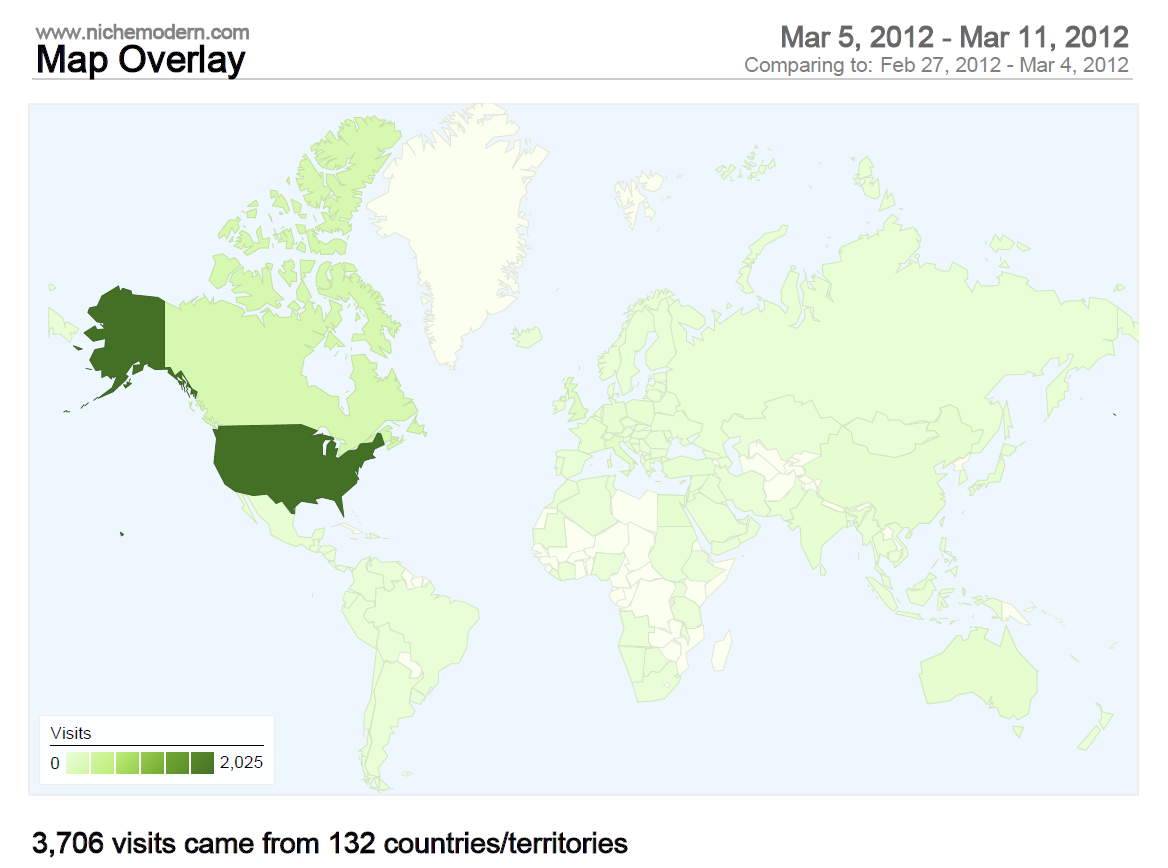 132 Countries Visit Niche Modern Website