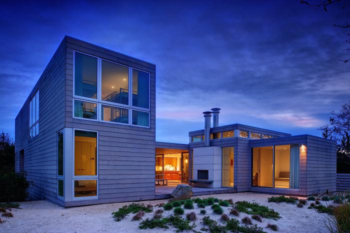 The Exterior of an Amagansett Home by Stelle Architects
