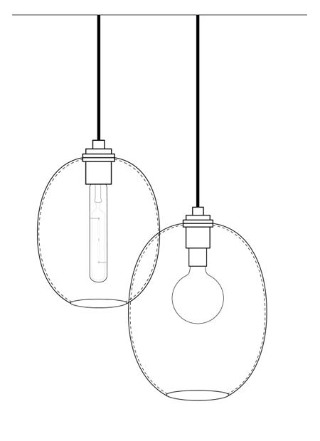 The Ellipse Modern Pendant Light Series