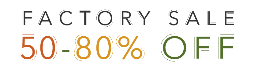 Fall Factory Sale: 50-80% Off