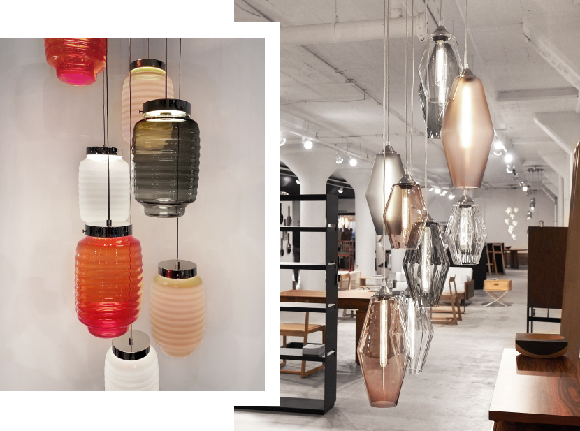View the Chinois and Marquise Pendant Lights on Display at High Point Fall Market