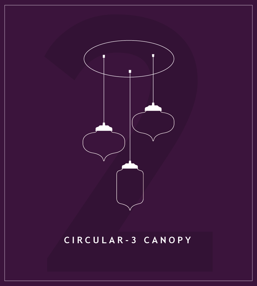 Circular Canopies for Pendant Lighting