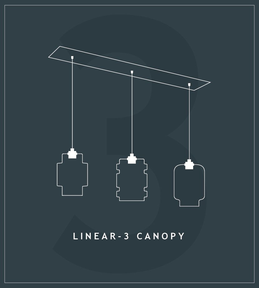Linear Canopies for Pendant Lighting
