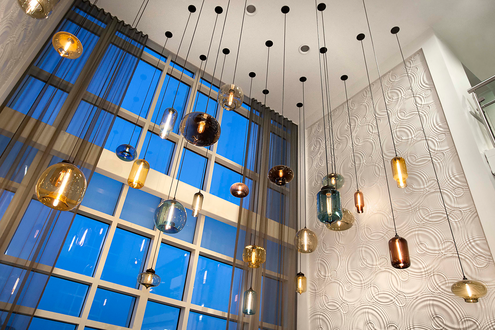 Hotel lobby lighting Interior Wall Design Read More The Navigator Modern Hotel Lighting