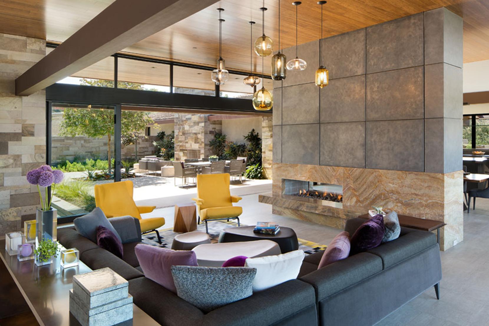 Modern Glass Living Room Lighting - Mixed Glass Pendant Lights