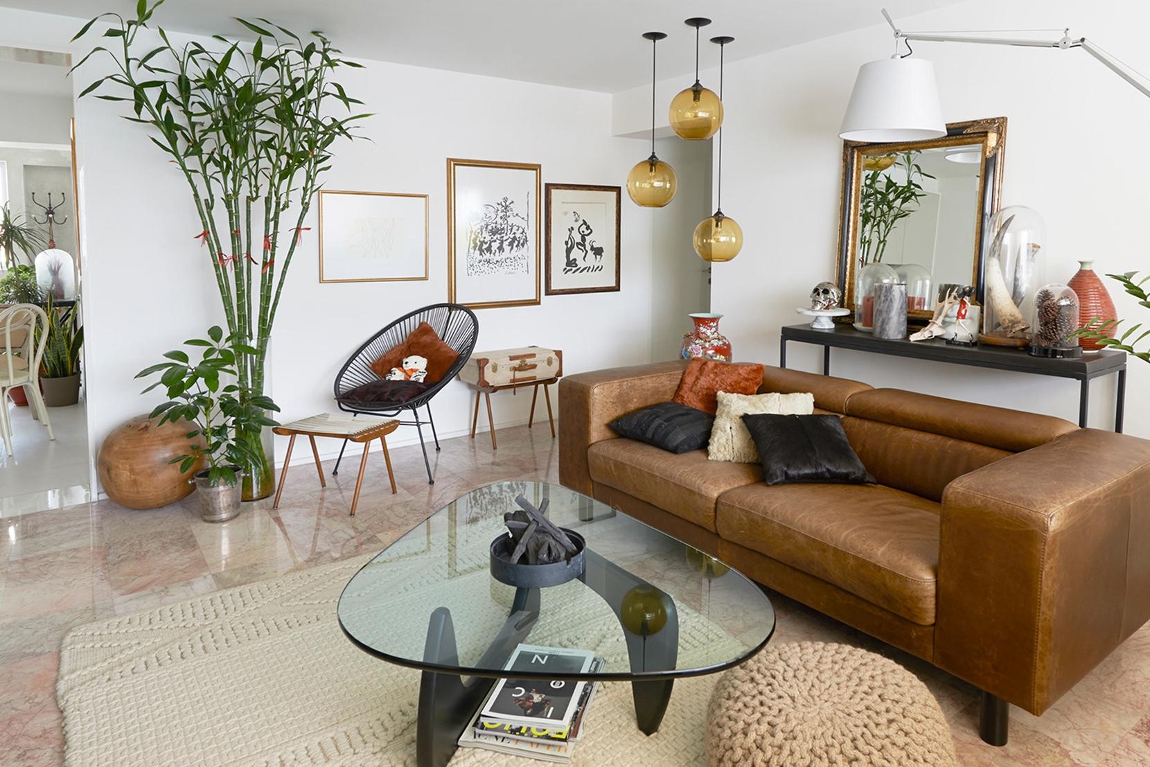 Modern Glass Living Room Lighting - Amber Solitaire Pendant Lights