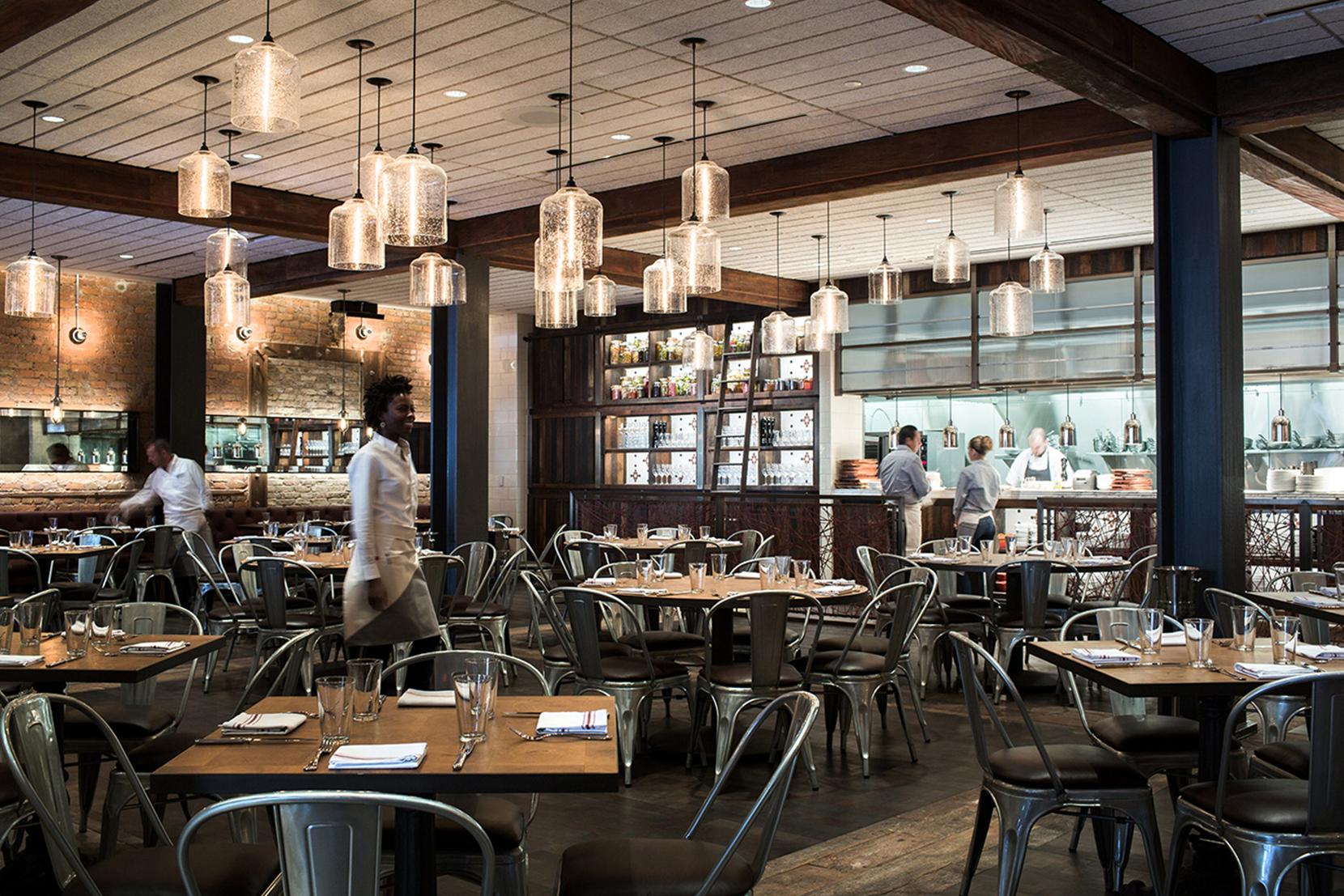 Modern Glass Restaurant Lighting - Effervescent Bell Jar Pendant Lights
