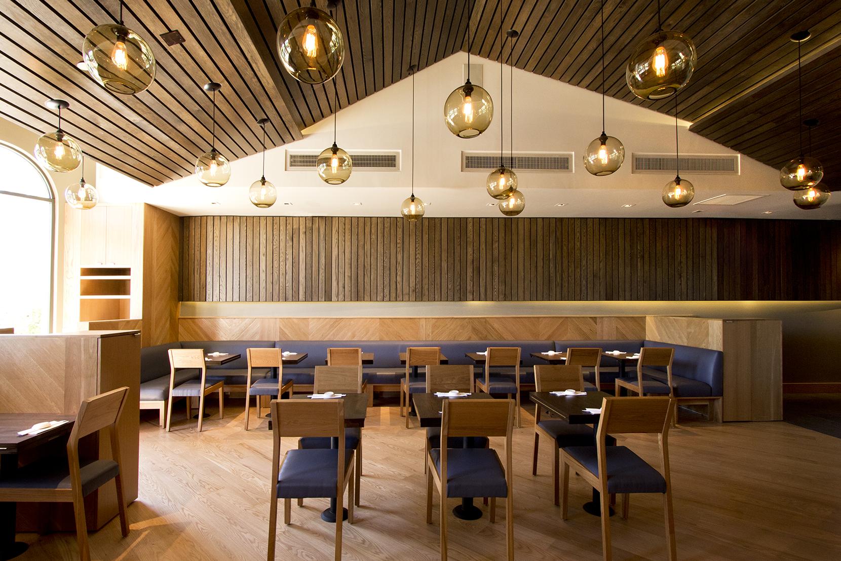 Modern Glass Restaurant Lighting - Smoke Solitaire Pendant Lights