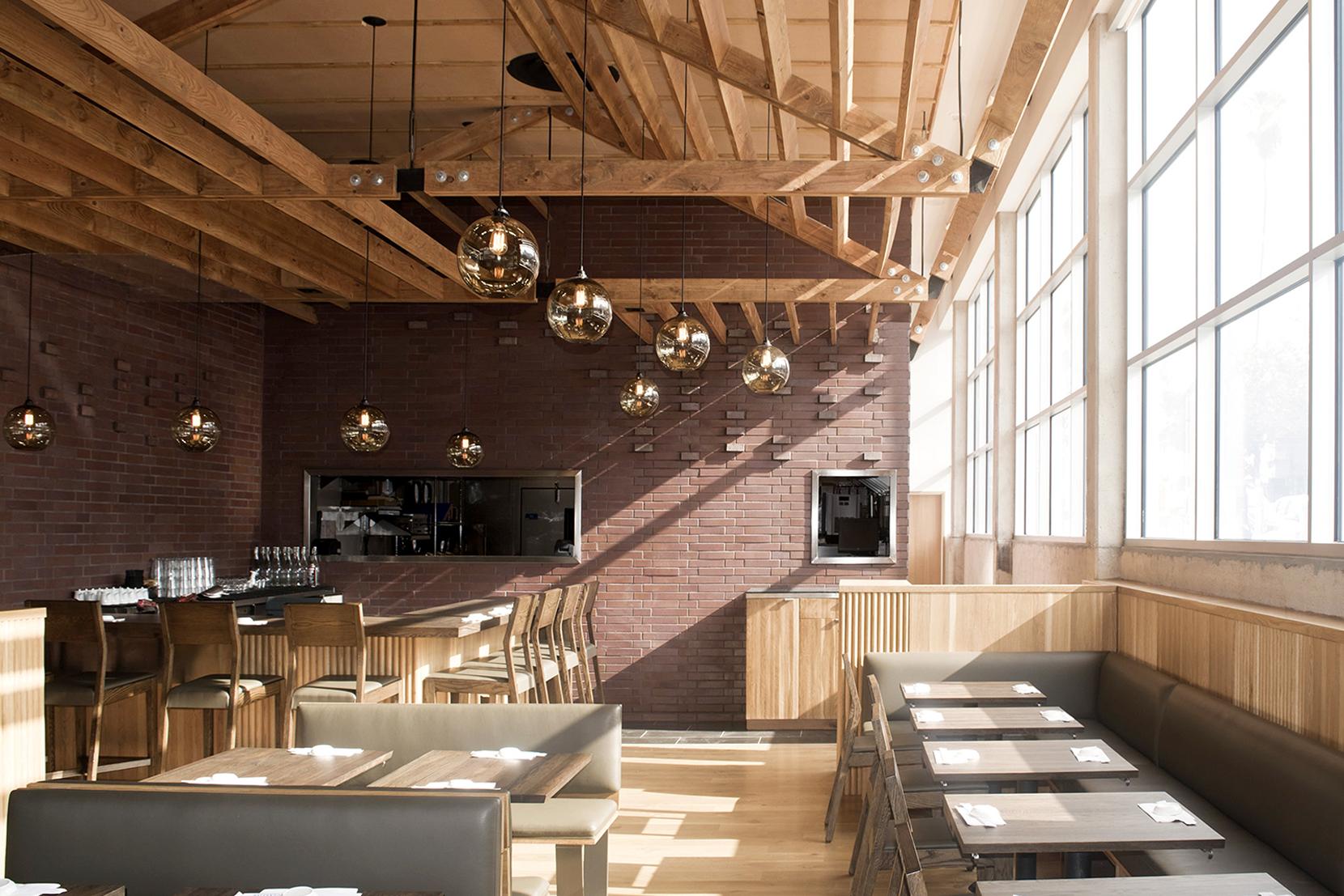 Modern Glass Restaurant Lighting - Solitiare Pendant Lights