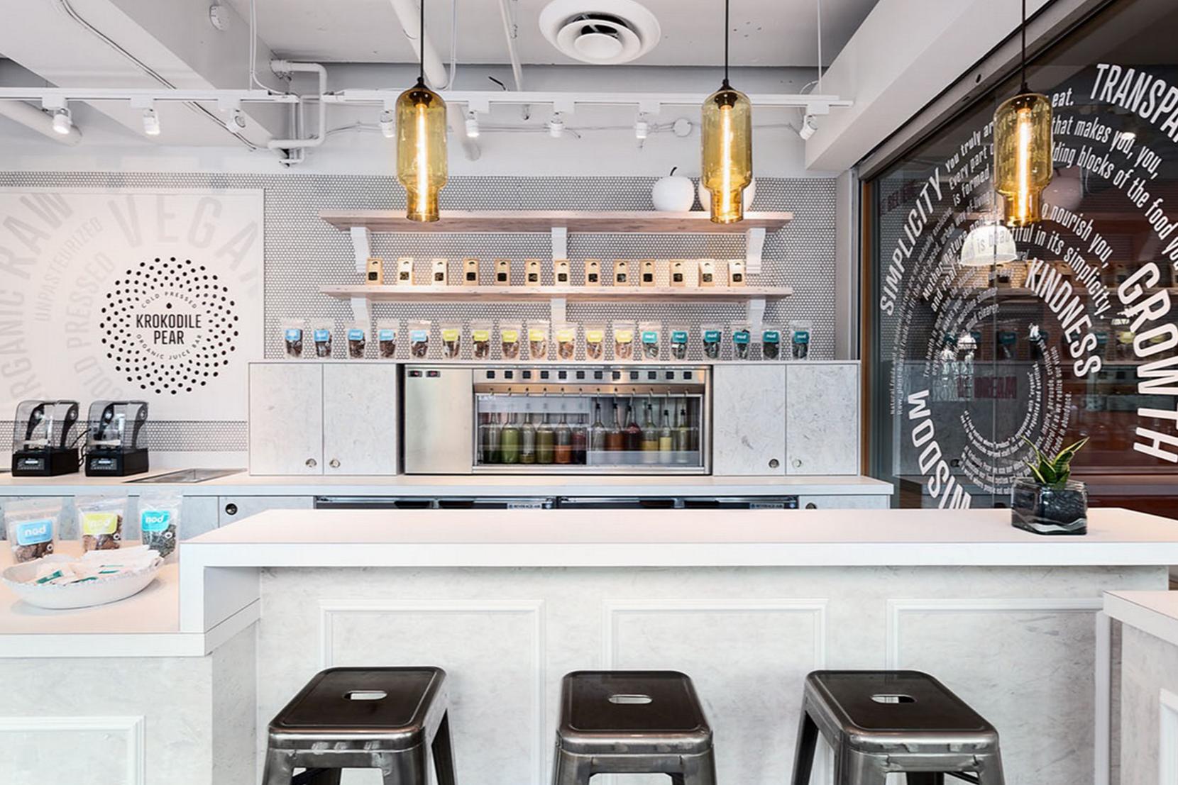 Modern Glass Restaurant Lighting - Amber Pharos Pendant Lights