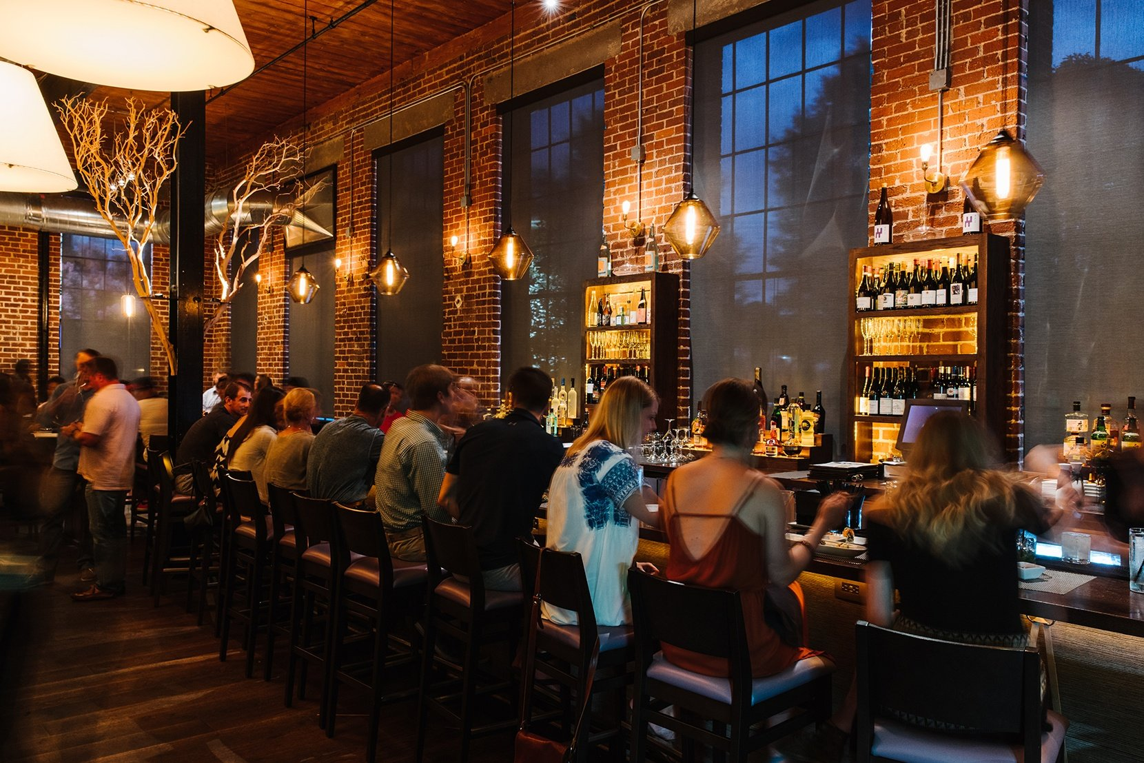 Modern Glass Restaurant Lighting - Trove Pendant Lights