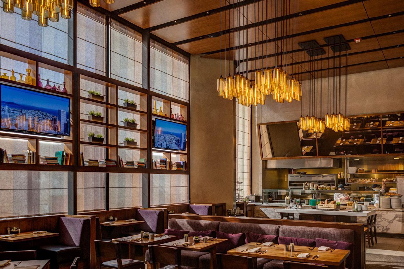 Modern Glass Restaurant Lighting - Packs of Amber PharosPendant Lights