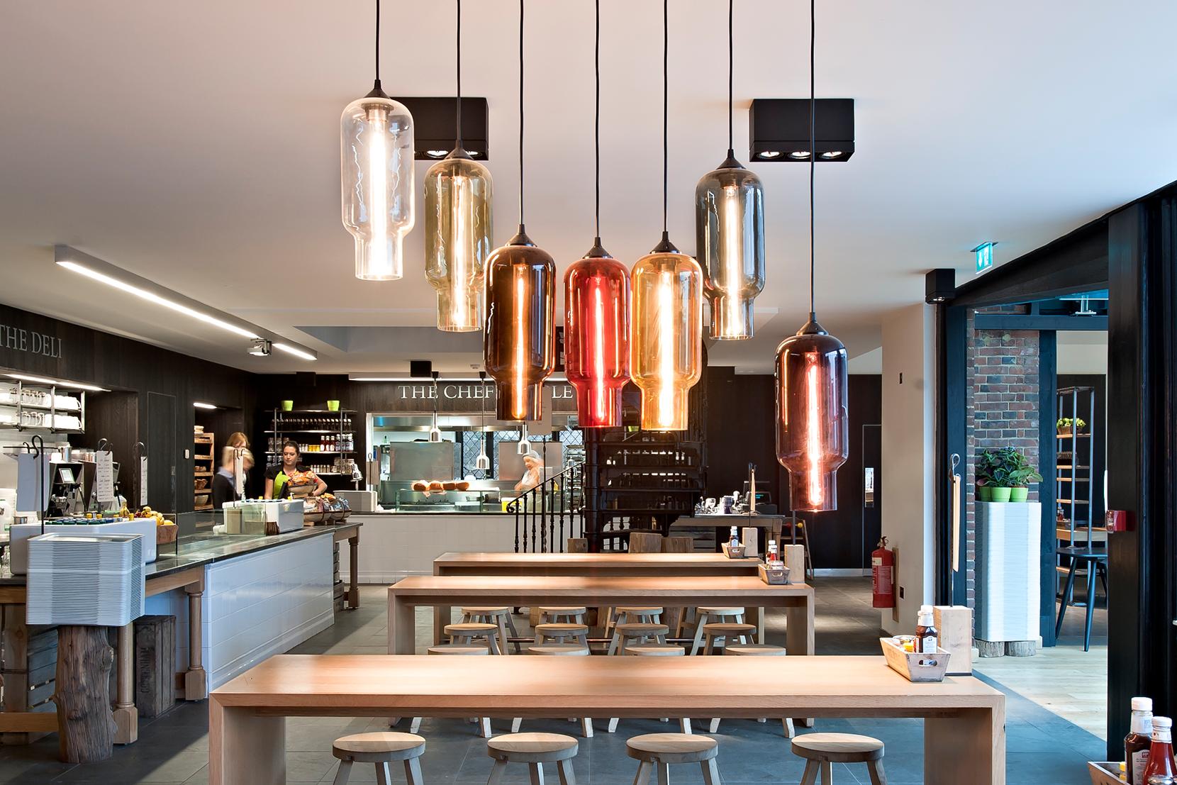 Modern Glass Restaurant Lighting - Pharos Pendant Lights