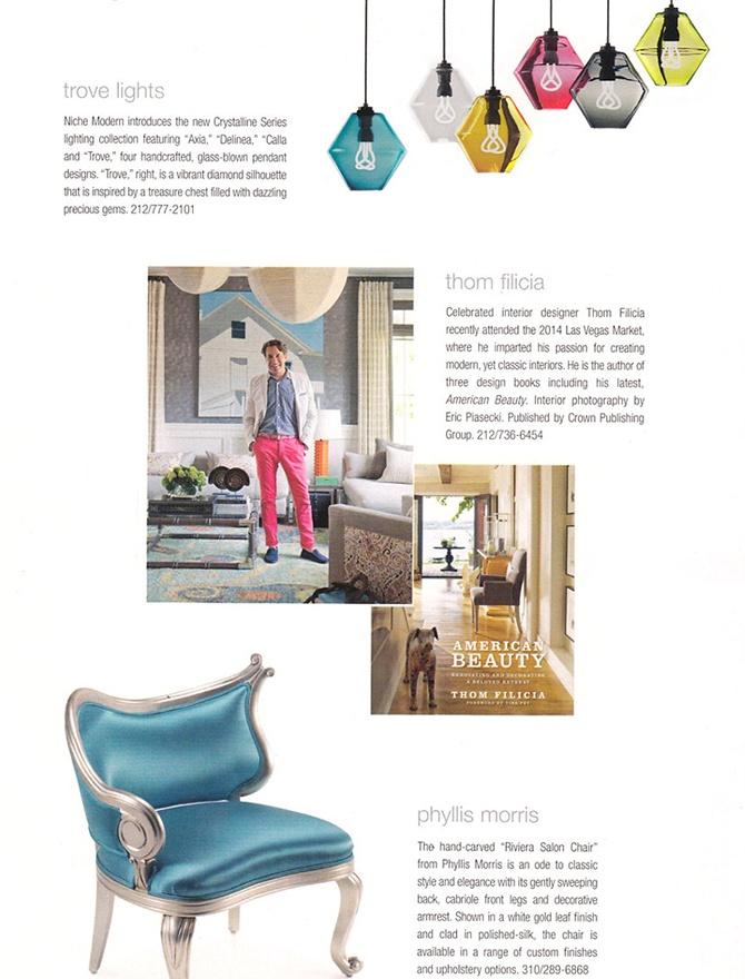 modern lighting inside inside Florida Design magazine