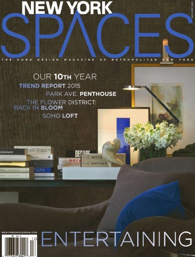 New York Spaces magazine cover