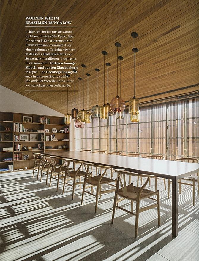table modern lighting inside Elle Decoration magazine