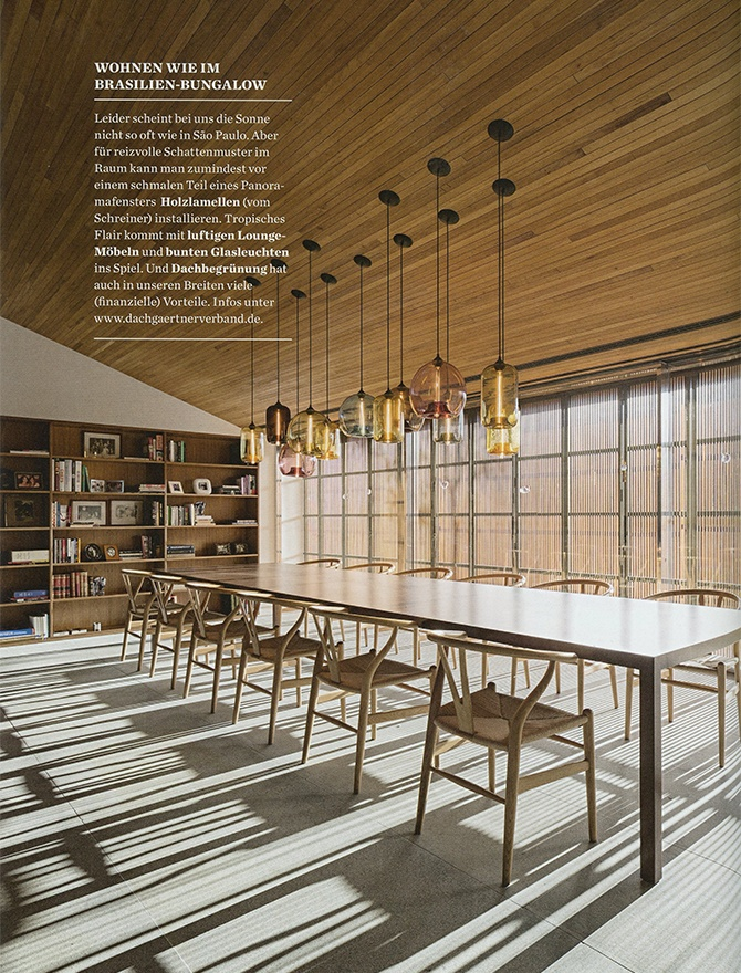 table modern lighting inside Elle Decoration magazine