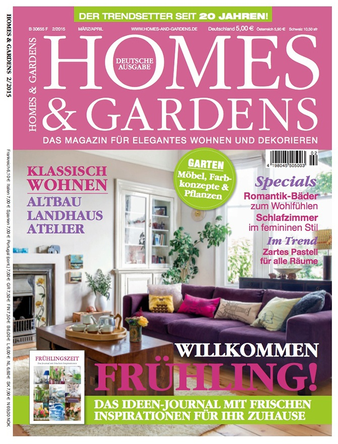 Homes and Gardens Germany magazine cover