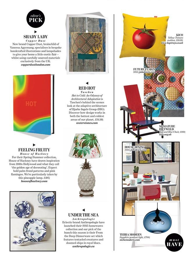 modern lighting inside Absolutely magazine