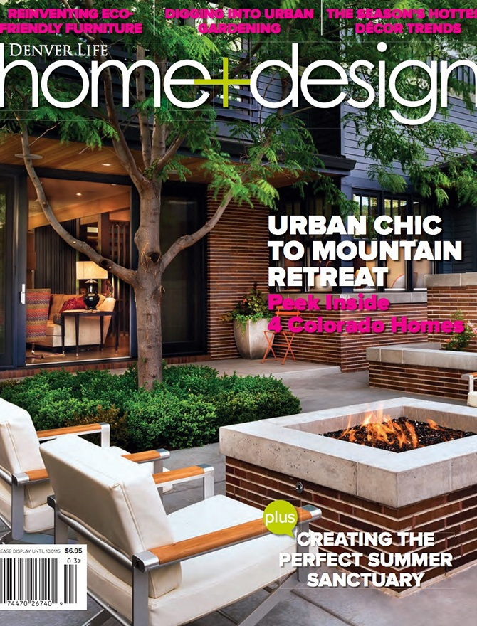 Denver Life Home and Design magazine cover