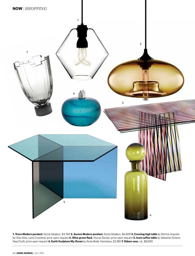 modern lighting inside Hong Kong Home Journal magazine