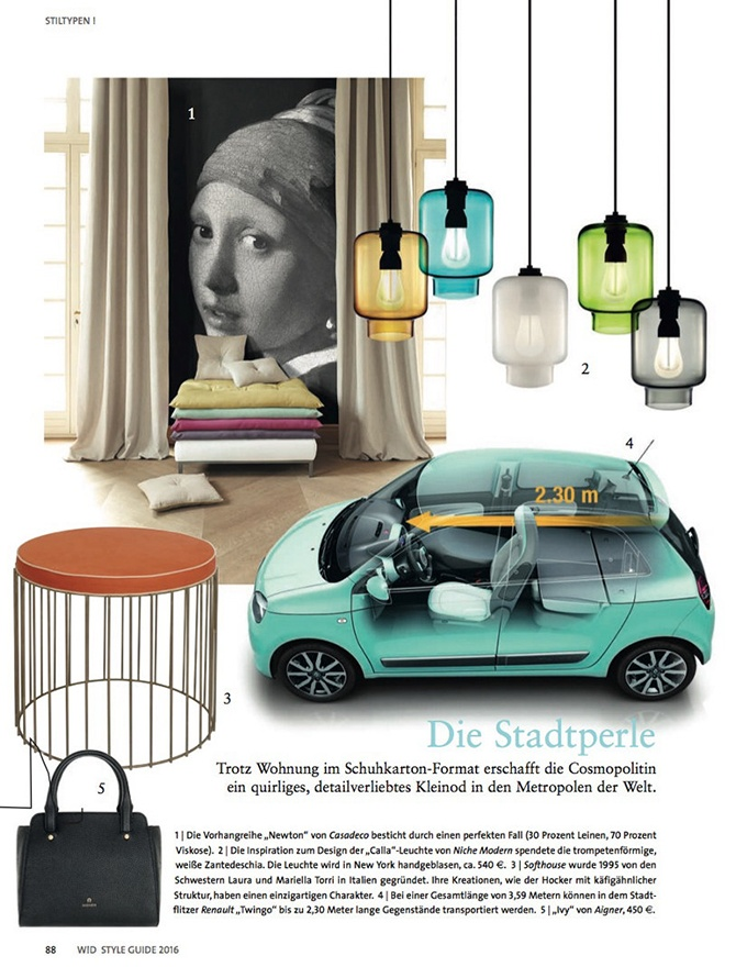 modern lighting inside Mobel Trends magazine