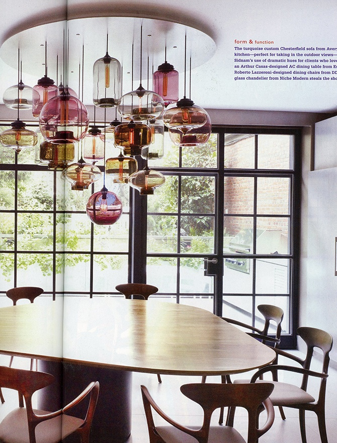 modern lighting inside New York Spaces magazine