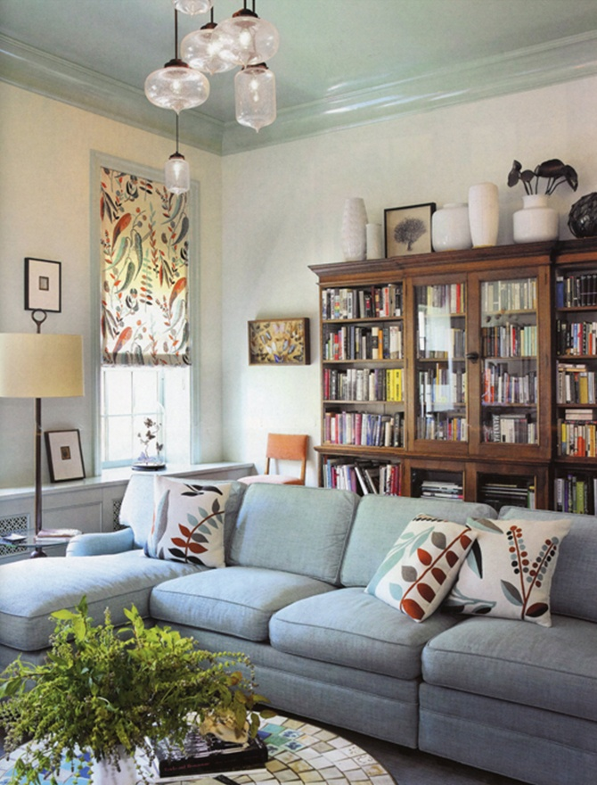 modern lighting inside New York Cottages and Gardens magazine