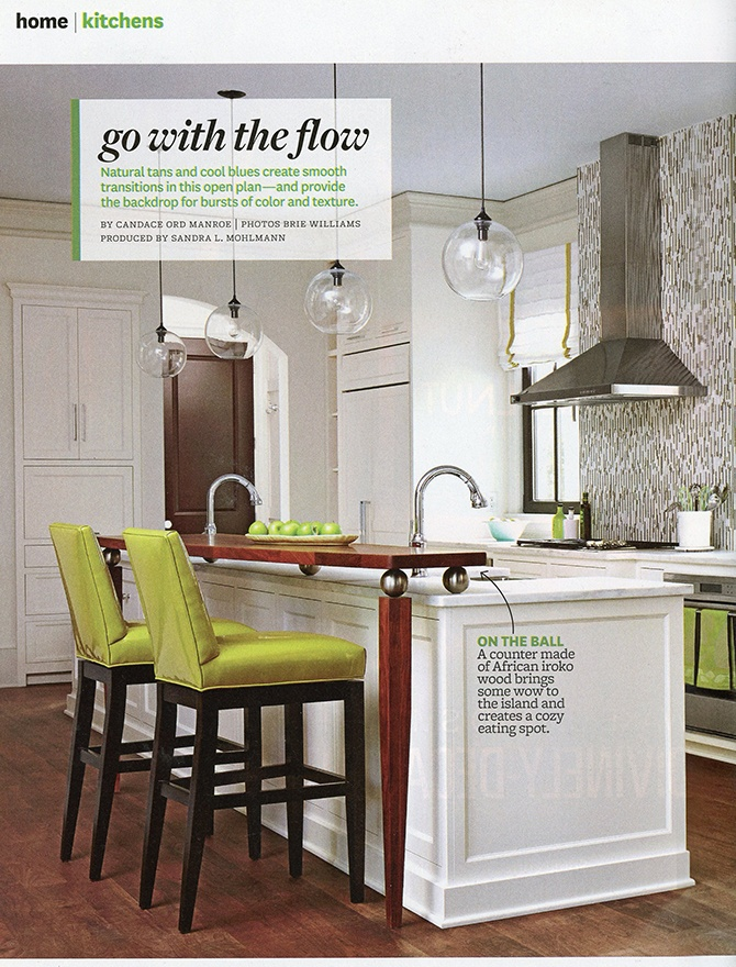 kitchen modern lighting inside Better Homes and Gardens magazine