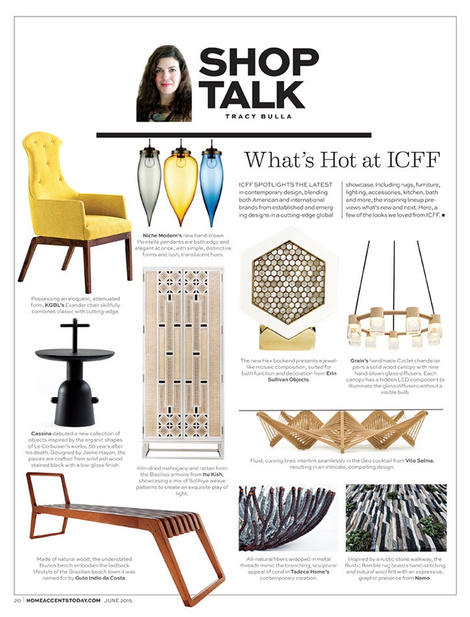 modern lighting inside Home Accents Today magazine