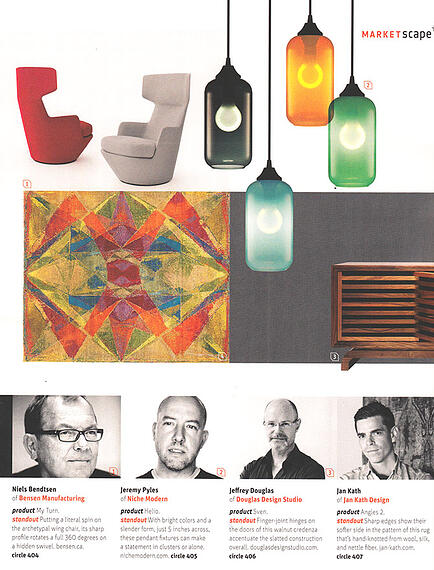 modern lighting inside Interior Design magazine