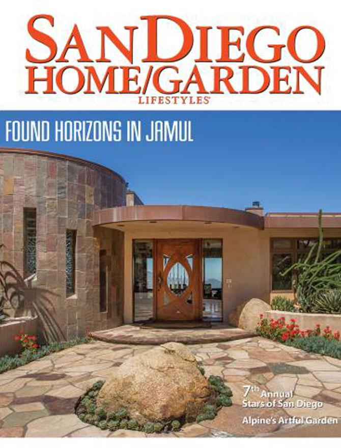 San Diego Home & Garden magazine cover