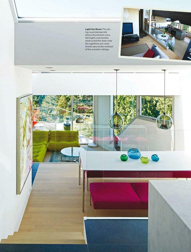 kitchen modern lighting inside Western Living magazine
