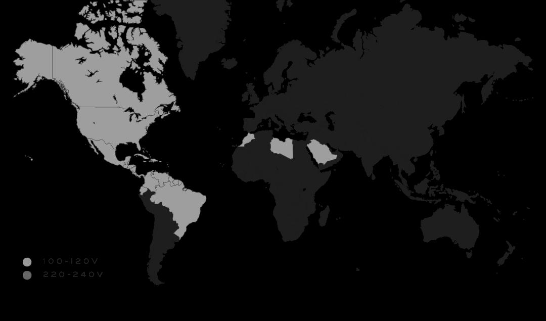 Modern Lighting Voltage Map